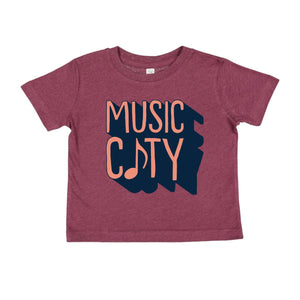 Maroon Music City Toddler Tee