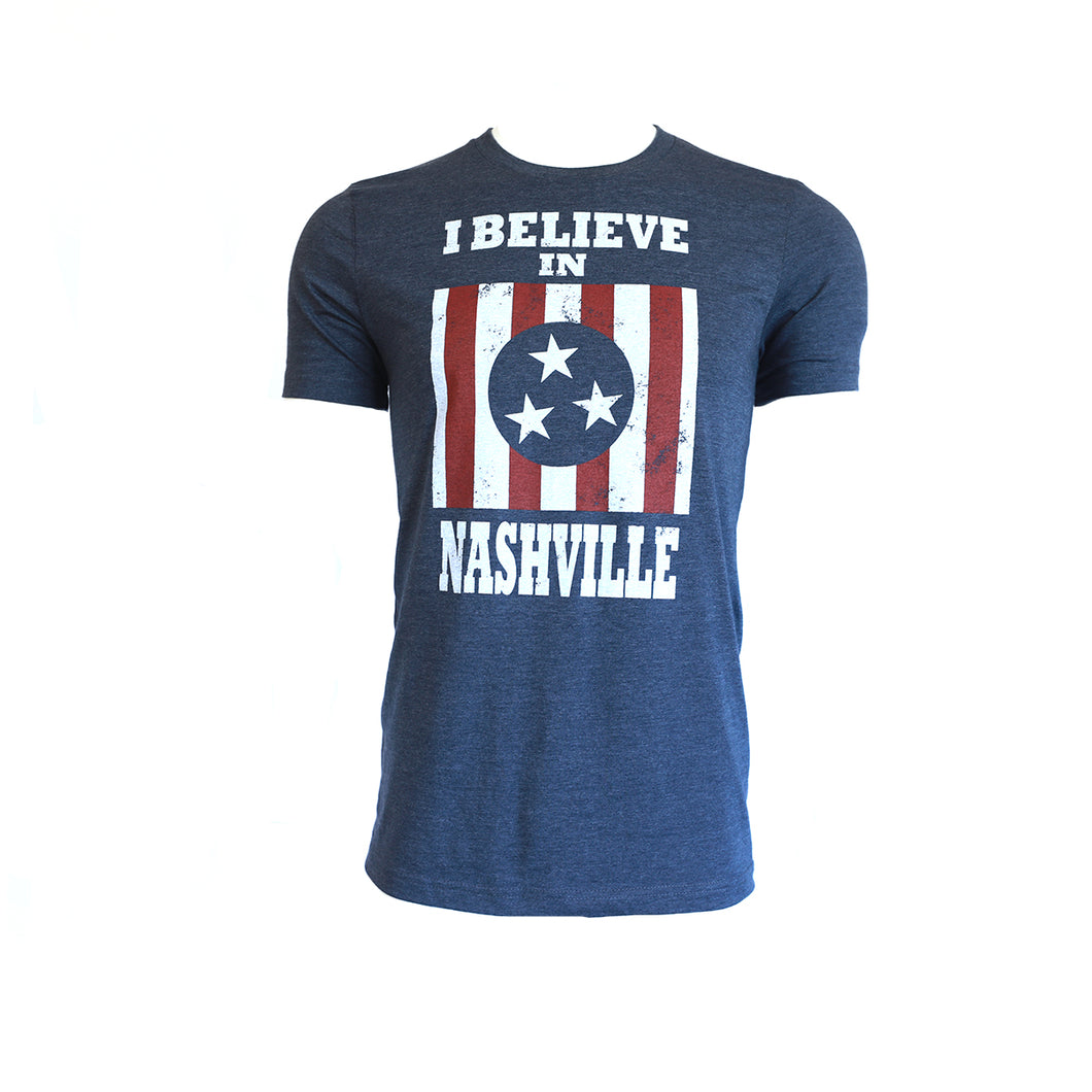 I Believe in Nashville Navy Short SleeveTee