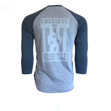 I Believe in Nashville Baseball Tee Raglan