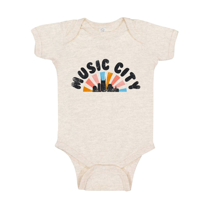 Dazed Pastel Sunset Onesie