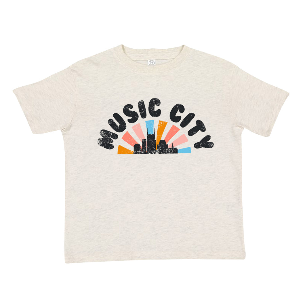 Dazed Pastel Sunset Toddler Tee