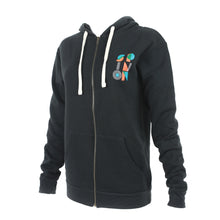 Spin On Black Zip Hoodie