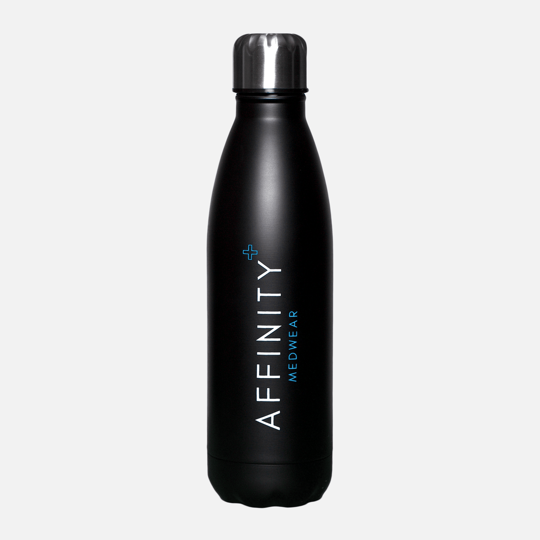 Black INSULATED Stainless Steel Water Bottle
