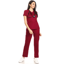 Premium Wine Berry Women's Scrub Pants