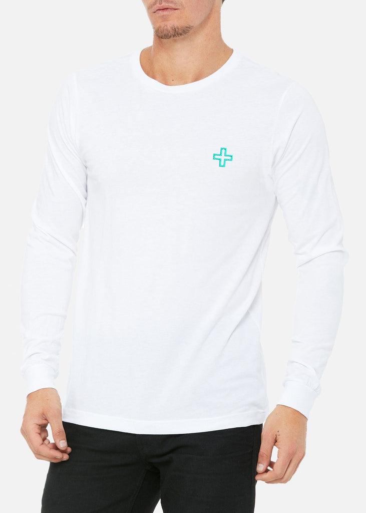 White Performance Men's Underscrub Long Sleeve Shirt