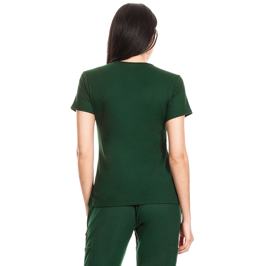 Premium Hunter Green Women's Scrub Top