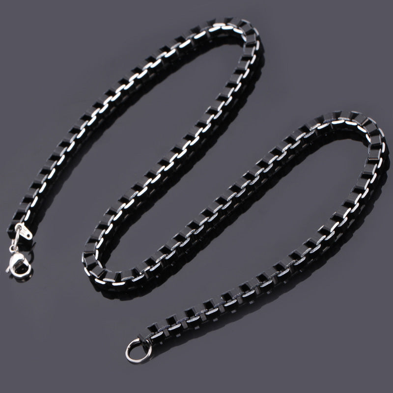 Men's Box Link Chain Necklace