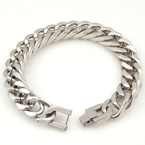 Men's Stainless Steel Chain Link Bracelet