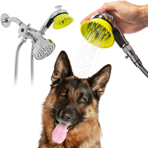 Wondurdog Deluxe Indoor Dog Wash Kit for Shower with Water Pressure Control