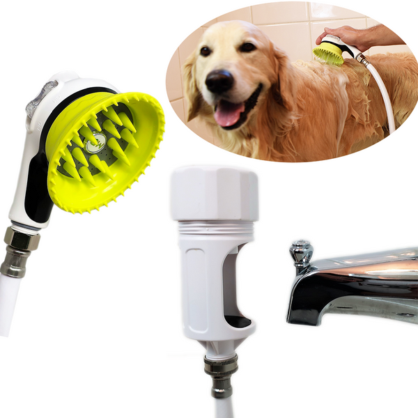 Wondurdog Bathtub Spout Dog Wash Kit with Constant Water Pressure