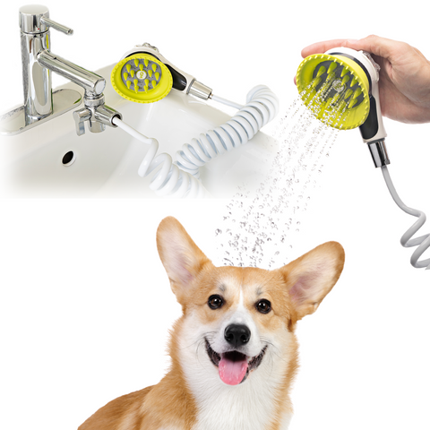 Wondurdog Sink Faucet Pet Wash Kit with Faucet Adapters and Garden Hose Attachment