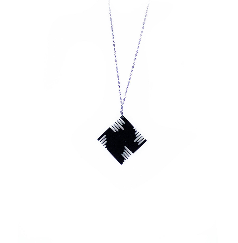 Rhombus Acrylic Necklace