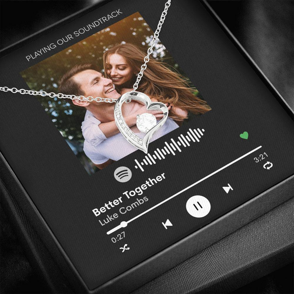 Custom Message Card - Forever Love - Scannable Spotify Love Song