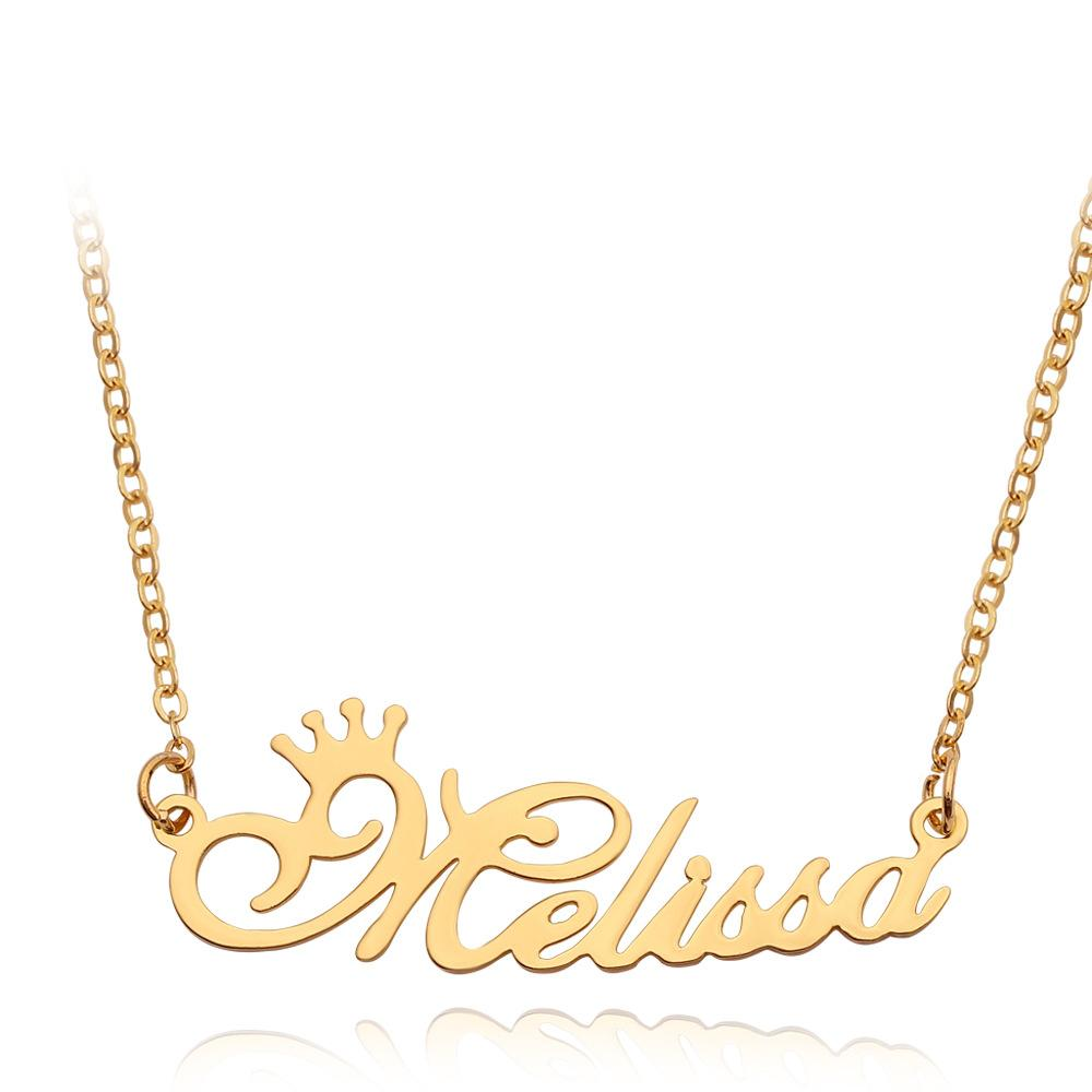Crown Name Necklace