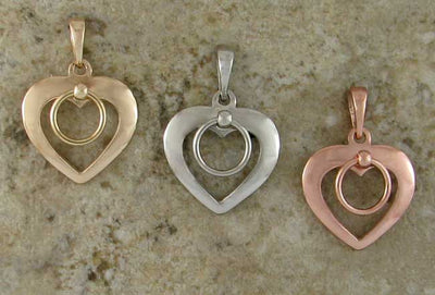 Shackled Heart Pendants