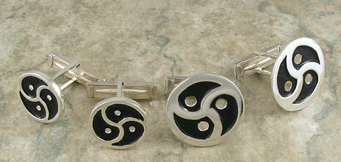 BDSM TRISKELION Cuff Links