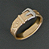 Collar Ring - yellow and white gold
