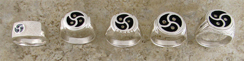 BDSM TRISKELION rings