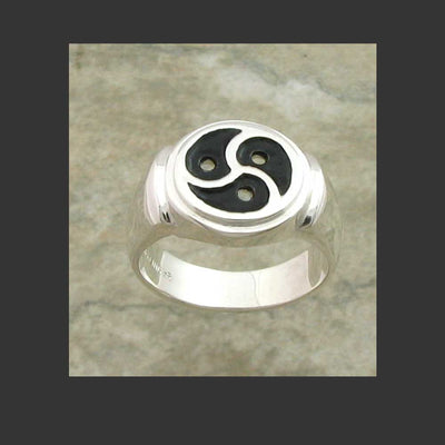 Classic Emblem Symbol Ring - Made in Sterling Silver