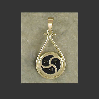 BDSM Emblem Symbol Drop Pendant - made in Gold