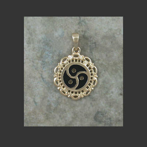 BDSM Emblem Symbol Filigree Pendant - made in Gold