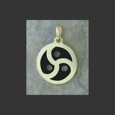 BDSM Emblem Symbol Large Pendant - made in Gold