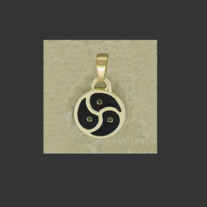 BDSM Emblem Symbol Medium Pendant - made in Gold