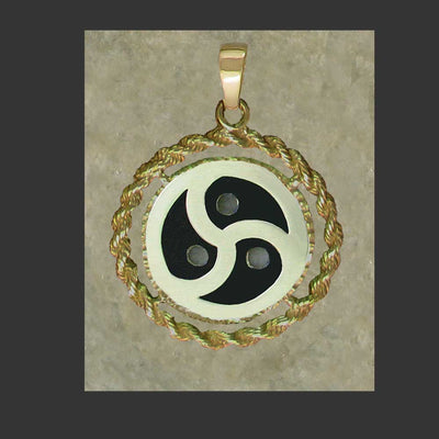BDSM Emblem Symbol Rope Frame Pendant - made in Gold