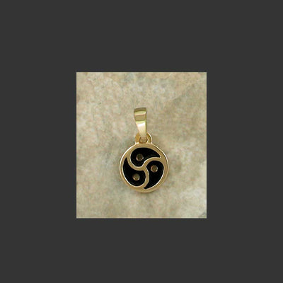 BDSM Emblem Symbol Small Pendant - made in Gold