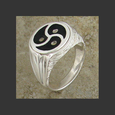 Majestic Emblem Symbol Ring  - Made in Sterling Silver or Gold