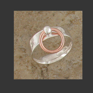Medium Width Flat Story of O Slave Ring - Made in Gold