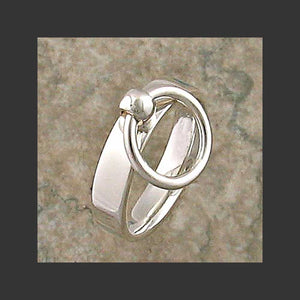 Narrow Width Flat Story of O Slave Ring - Made in Sterling Silver