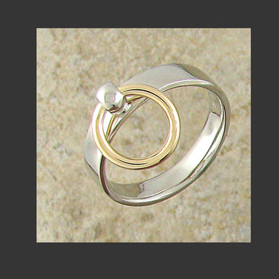 Narrow Width Flat Story of O Slave Ring - Made in Gold