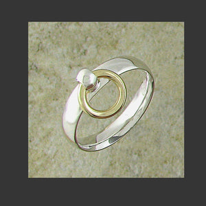 Narrow Width Rounded Story of O Slave Ring - Made in Sterling silver