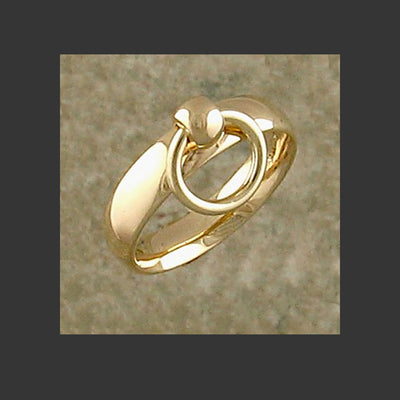 Narrow Width Rounded Story of O Slave Ring - Made in Gold