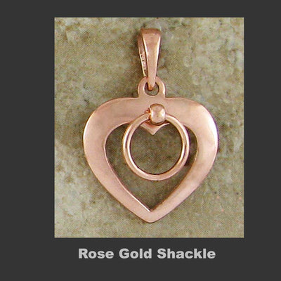 Shackled Hearts - Made in 14kt Rose Gold