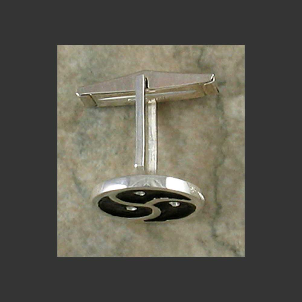 BDSM Emblem Symbol Cuff Links - 15 mm Made in Sterling Silver