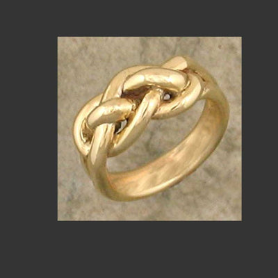 Double Knot ring - Made in Sterling Silver or Gold