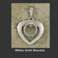 Shackled Hearts - Made in White Gold
