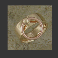 Wide Width Flat Story of O Slave Ring - Made in Gold