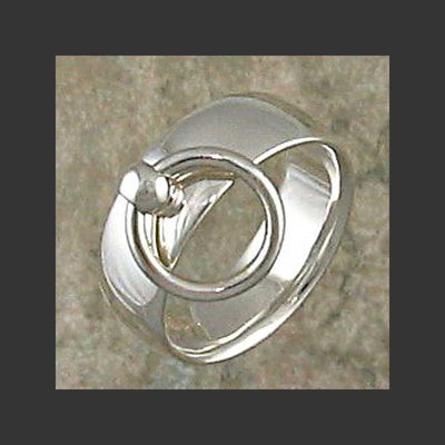 Wide Width Rounded Story of O Slave Ring - Made in Sterling silver