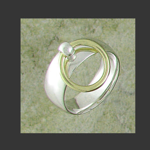 Wide Width Rounded Story of O Slave Ring - Made in Gold