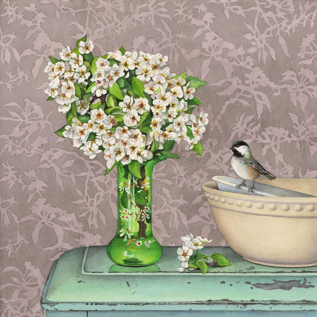 Blossoms, Bird and Bowls
