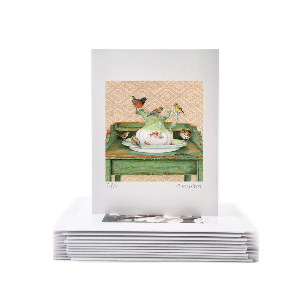 At the Washstand - Wholesale Art Cards