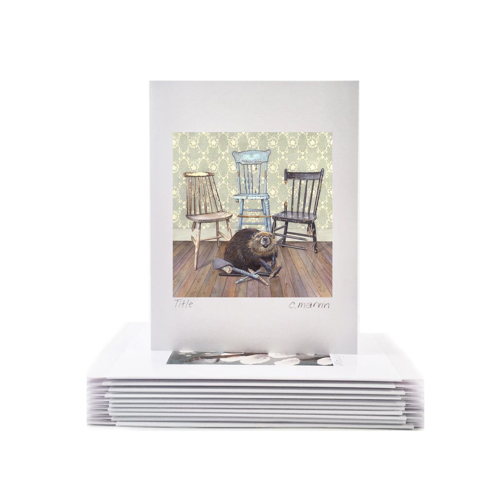 Beavers Will be Beavers - Wholesale Art Cards