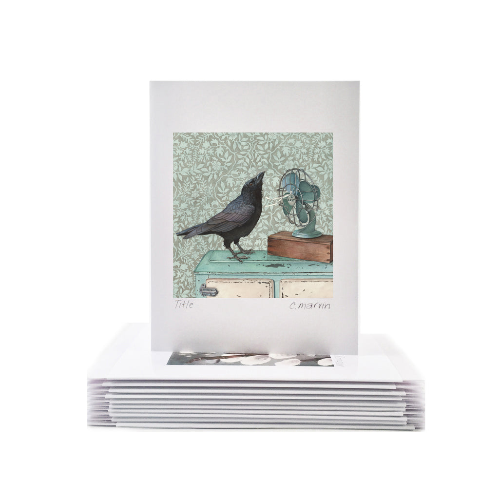 Crow Cools Off - Wholesale Art Cards