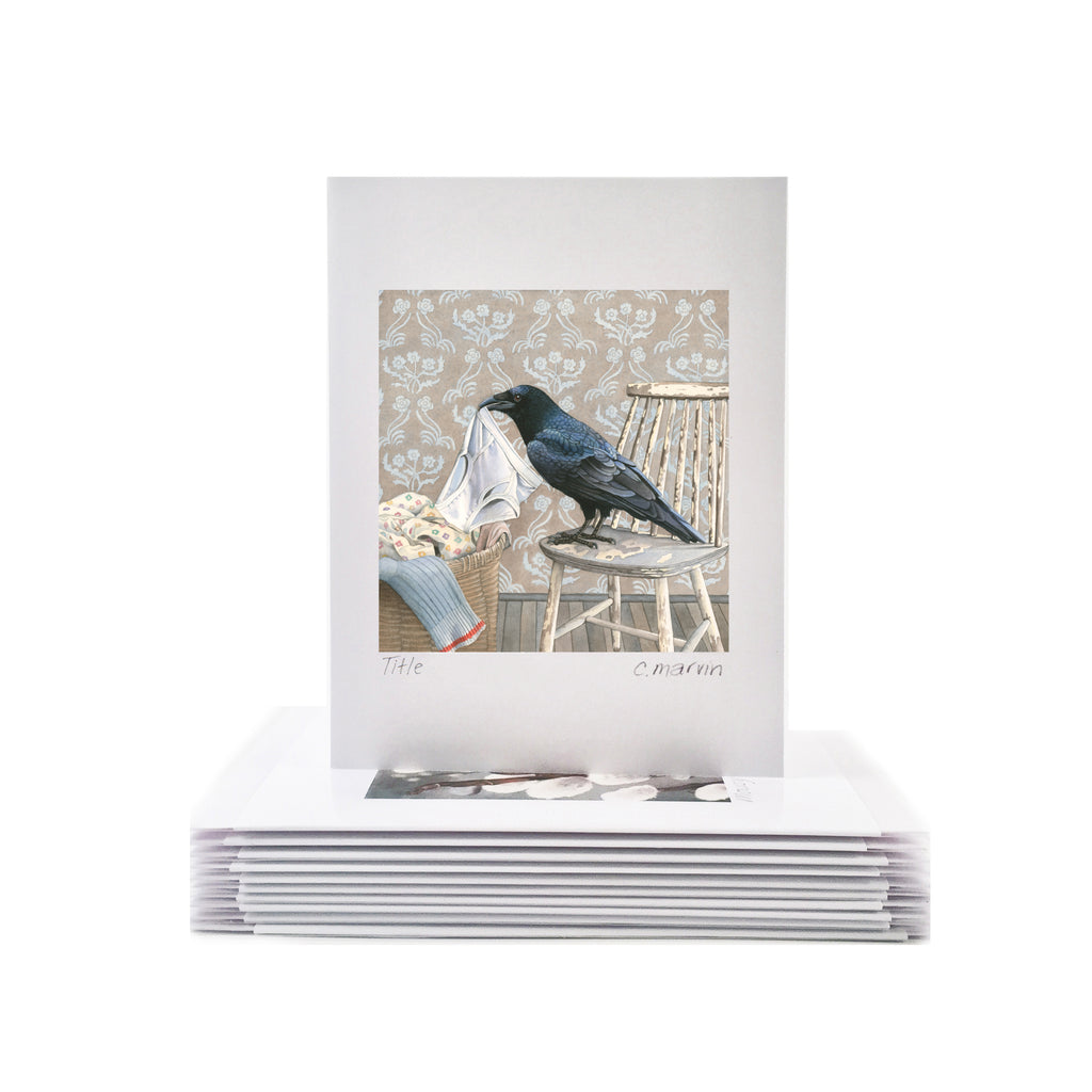 Crow Gathers Nesting Materials - Wholesale Art Cards