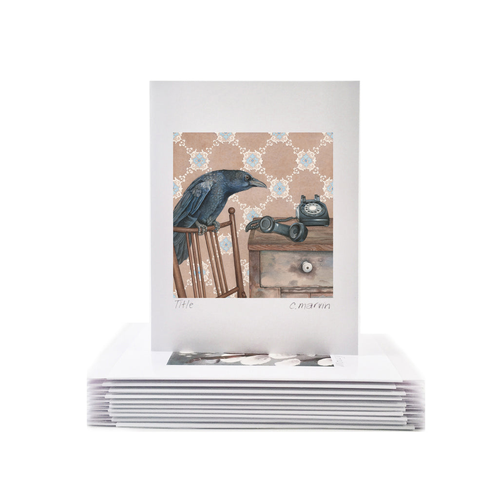 Crow Receives Instructions - Wholesale Art Cards