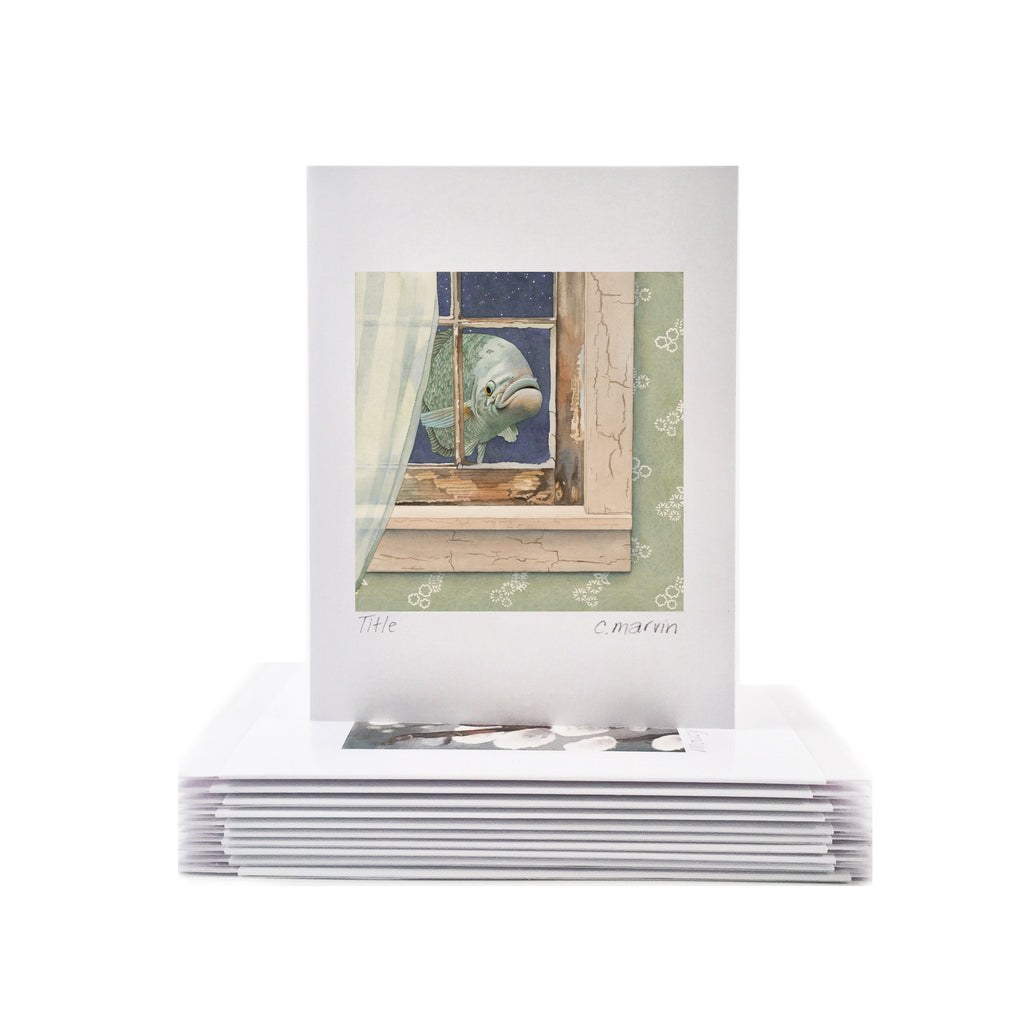 Fish at My Window - Wholesale Art Cards