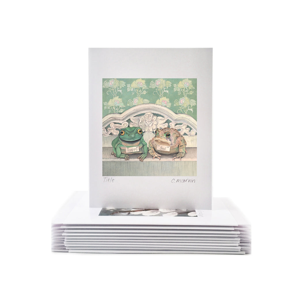 Frogs are Happy, Toads are Sad - Wholesale Art Cards